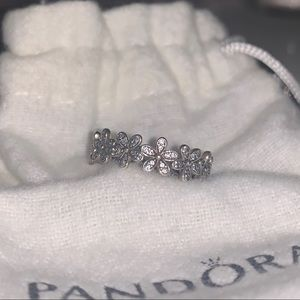 Pandora flower band ring